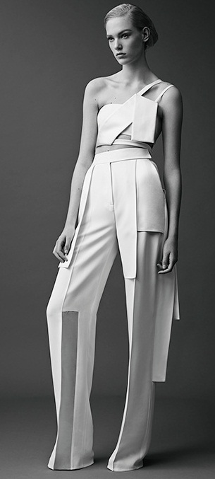 thierry-mugler-2015-resort-cruise-pre-spring-womens-fashion-grosgrain-straps-d-rings-cinch-waist-zigzag-white-handkerchief-hem-wrap-vest-palazzo-pants-10x